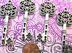 New Antique Vintage Skeleton Key Replica Victorian Gothic Party Craft Making Supply Bulk Beads Setting Findings Pendant Charms Jewelry Craft